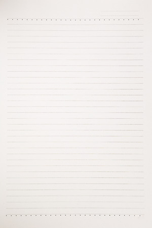 ruled paper: real material notebook paper background, stationery for business and education Stock Photo