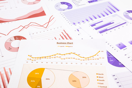 educational research: business charts, data analysis, marketing report and educational research, concepts for project management, financial growth, turnover forecast and global economic summarizing