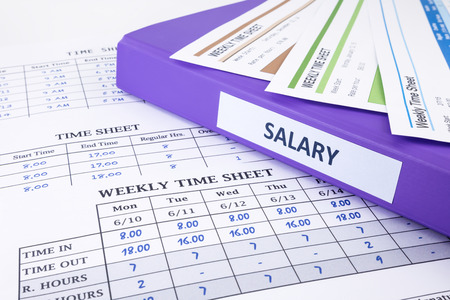 Feuille de temps des employés et le salaire liant pour les ressources humaines Banque d'images - 35096524