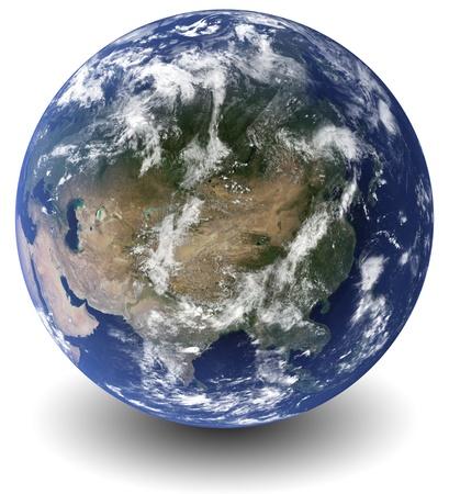 3D Earth globe Stock Photo