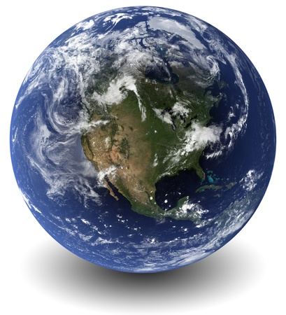 3D Earth globe photo