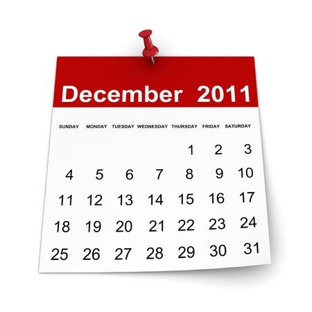 Calendar 2011 - December Stock Photo - 8446228