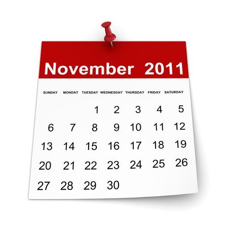 Calendar 2011 - November
