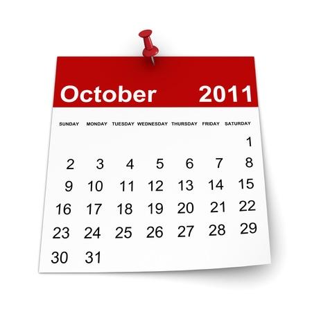 Calendar 2011 - October photo