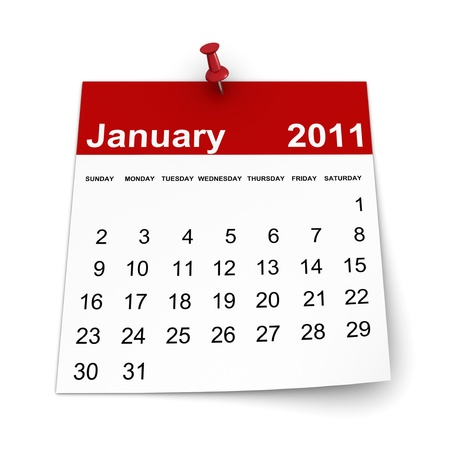 Calendar 2011 - January Stock Photo - 8446225
