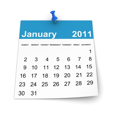 Calendar 2011 - January Stock Photo - 8456768