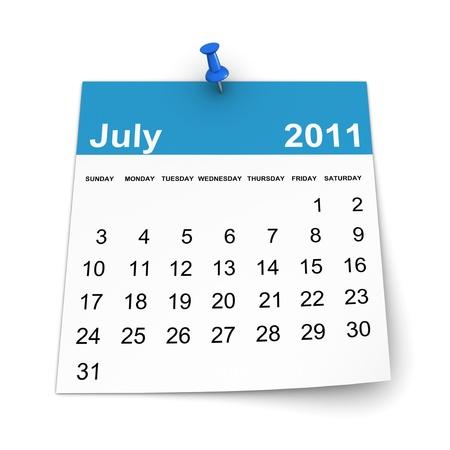 Calendar 2011 - July photo
