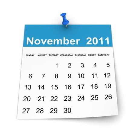 november 3d: Calendar 2011 - November