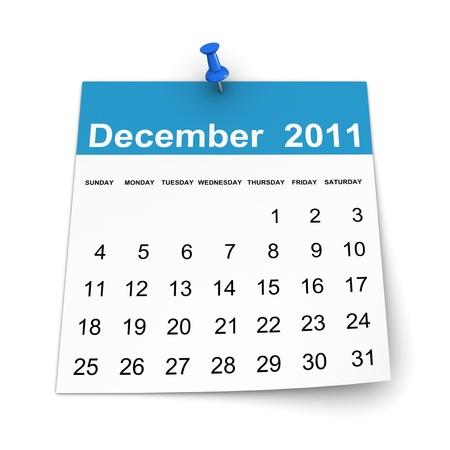 Calendar 2011 - December Stock Photo - 8456767