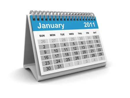 Calendar 2011 - January Stock Photo - 8506093