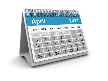 Calendar 2011 - April Stock Photo - 8506062