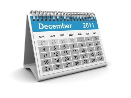 Calendar 2011 - December Stock Photo