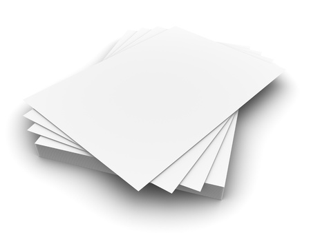 stack of documents: Blank Paper Stock Photo