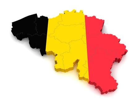 european map: 3D Map of Belgium