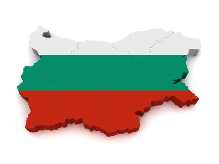 3D Map of Bulgaria photo