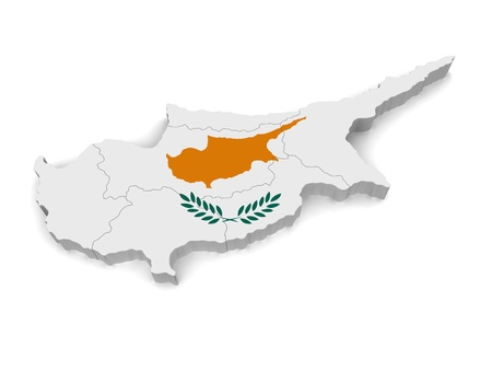 3D Map of Cyprus Stock Photo - 8942016