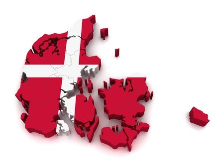 3D Map of Denmark Stock Photo - 8942025