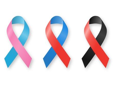 awareness ribbons: Awareness Ribbons Stock Photo
