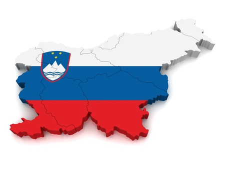 3D Map of Slovenia photo