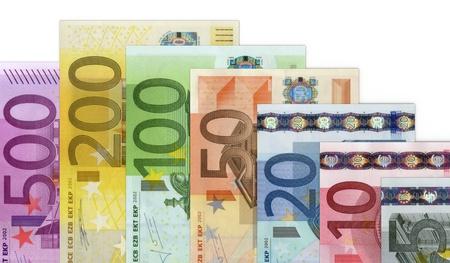 banconote euro: Banconote in denaro di euro Archivio Fotografico