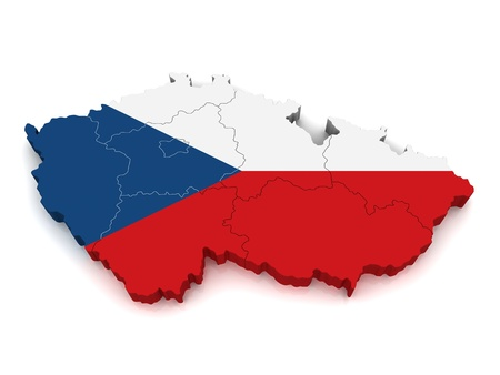 3D Map of Czech Republic photo