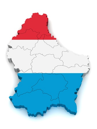 3D Map of Luxembourg