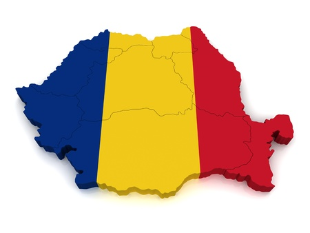 romania: 3D Map of Romania