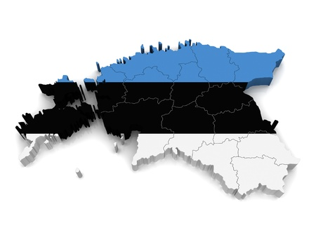 3D Map of Estonia photo