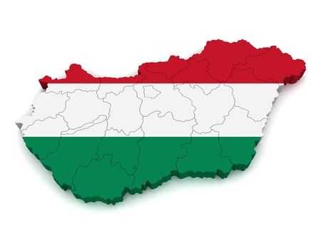 3D Map of Hungary photo