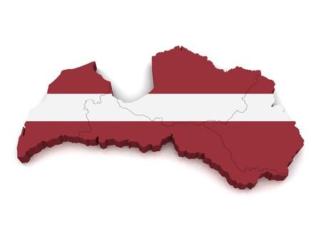 Carte 3D de la Lettonie