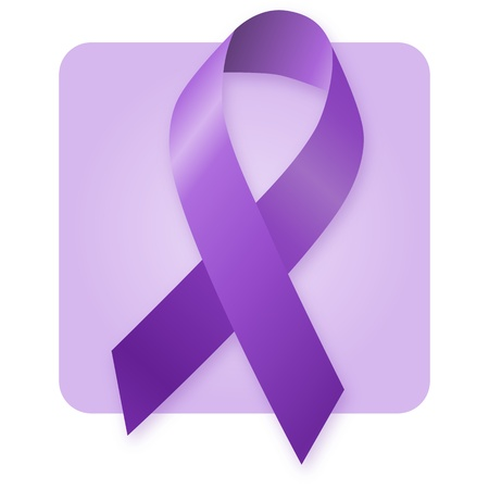 Awareness Ribbon - Purple photo