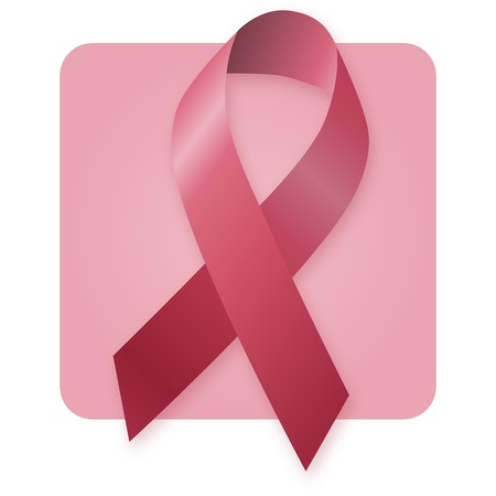 Awareness Ribbon - Burgundy Stock Photo - 9532683