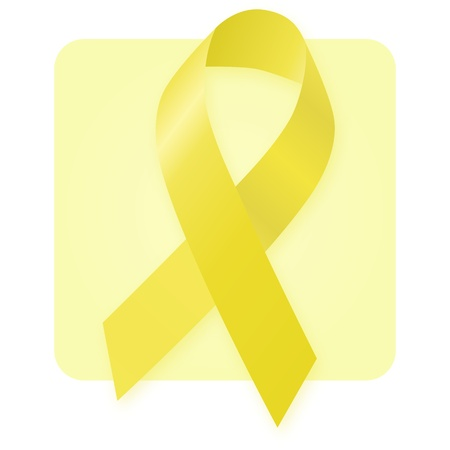 Awareness Ribbon - Yellow Gold