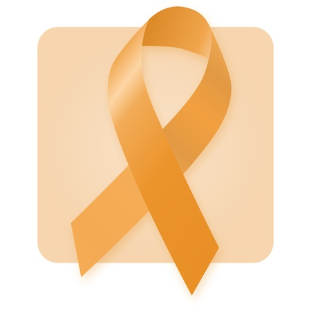 Awareness Ribbon - Orange Stock Photo - 9532680