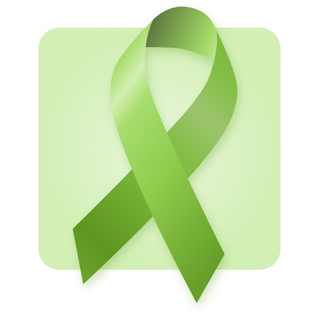 Awareness Ribbon - Green Stock Photo