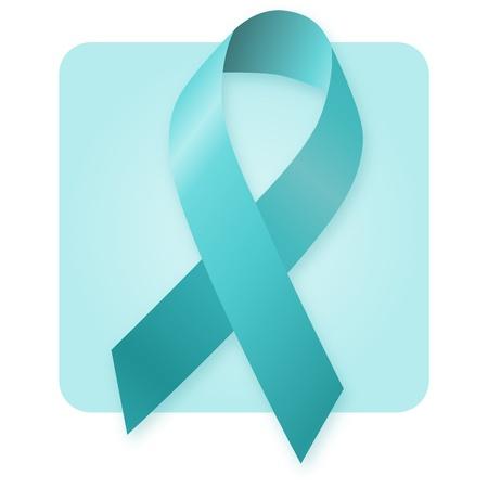 awareness ribbons: Awareness Ribbon - Jade