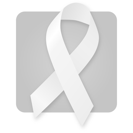 lapel: Awareness Ribbon - White Stock Photo