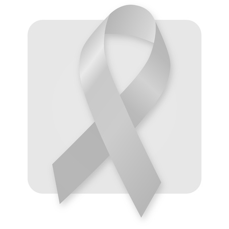 Awareness Ribbon - Grey Silver Stock Photo - 9532672