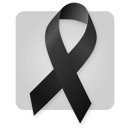 luto: Cinta de conciencia - negro