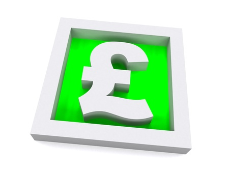 High Quality Pound Sterling Sign Stock Photo - 9600820
