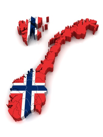 3D Map of Norway photo