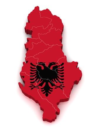 Mappa 3D di Albania  Archivio Fotografico - 10060576