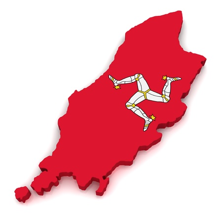 3D Map of Isle of Man  photo
