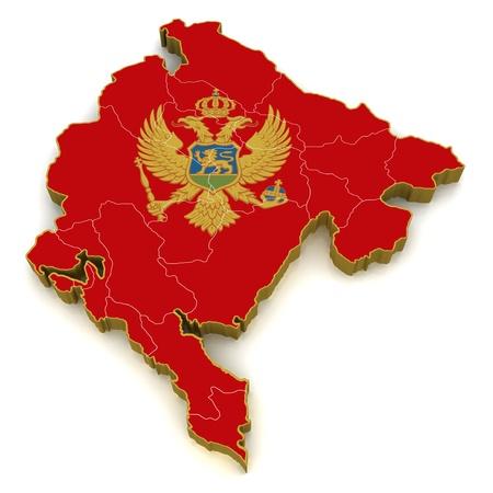 3D Map of Montenegro  photo