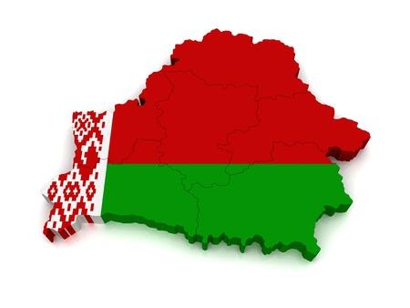 3D Map of Belarus  photo