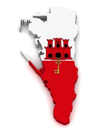 3D Map of Gibraltar  photo