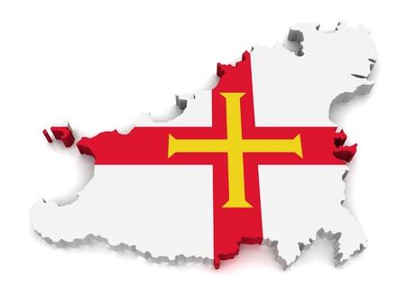 guernsey: 3D Map of Guernsey