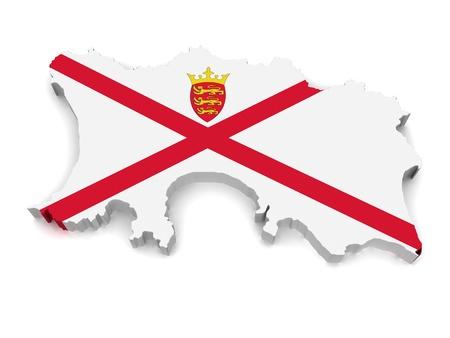 jersey: 3D Map of Jersey