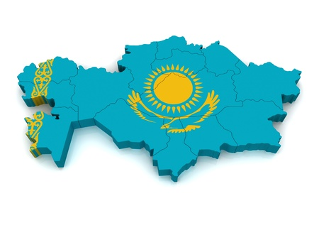 Mapa 3D de Kazajstán