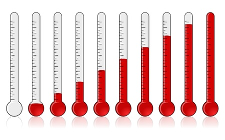 donations: Thermometer - Progress  Stock Photo